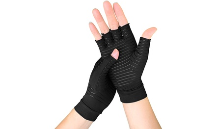 Copper Fit Arthritis Compression Gloves Hand Support Joint Pain Relief Glove
