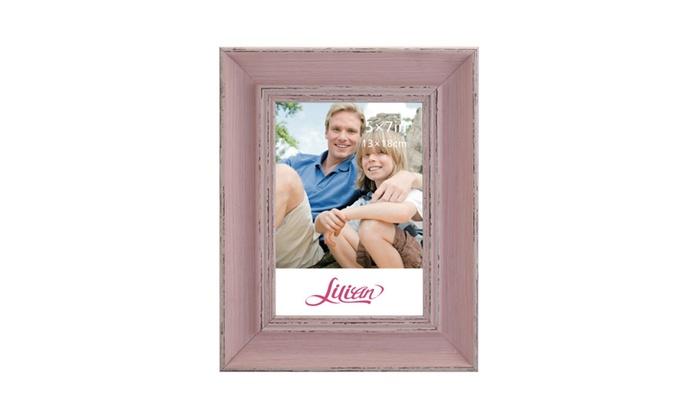 Lilian Vintage Pink Display 4x6 5x7 8x10 Desk/Wall Photo Frame | Groupon