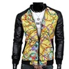 Men's Multi-Colored Fashion Slim Fit Cargo Jackets