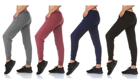 33 Flex 4pack Womens solid Fleece-Lined Jogger Pants S 848e9263-343c-4ad0-93e7-d62829bc84ad