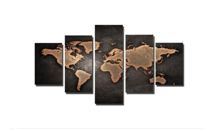 5 pcs vintage world map wall art picture home decor no framed gumiabroncs Choice Image