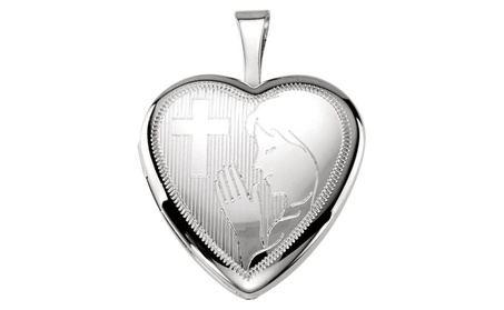 Sterling Silver Prayer Locket 05bf1268-6cd8-4661-929b-a39392e39d80
