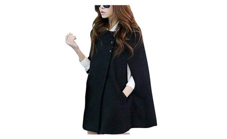 Womens Casual Poncho Cape Coat