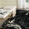 LR Home Infinity Feather Black Rectangle Indoor Area or Runner Rug