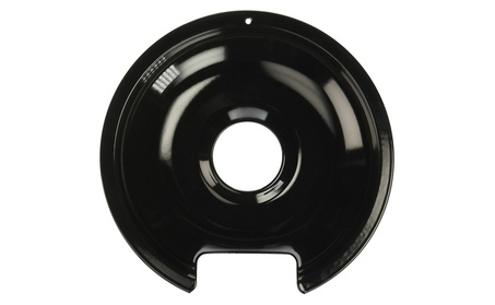 Range Kleen 8in. Black Porcelain GE-Hotpoint Reflector Drip Pan P106 photo