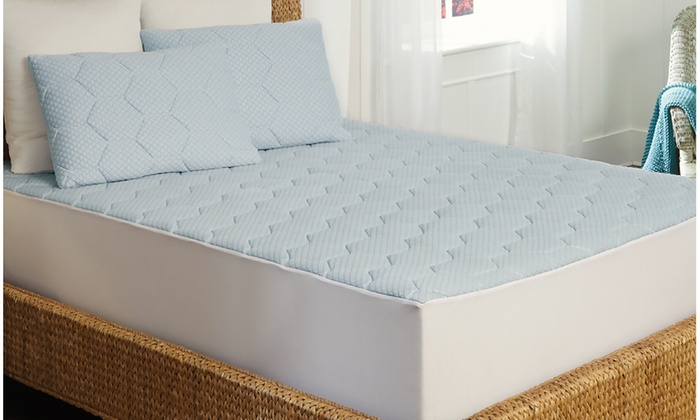 Arctic Sleep Cooling Gel Memory Foam Mattress Pad
