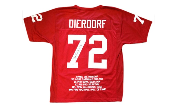 new product 898d2 61f7f Autographed Dan Dierdorf St. Louis Cardinals Red Custom Jersey