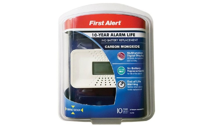 First Alert Co710 Carbon Monoxide Alarm With Digital Display, White