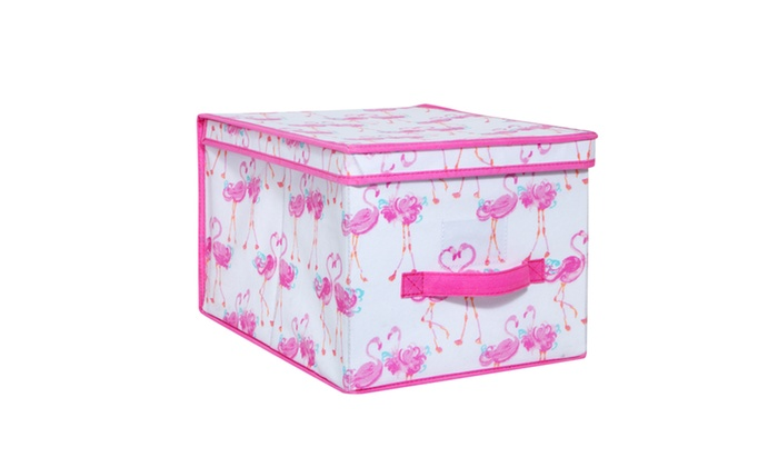 Laura Ashley Kids Large Collapsible Storage Box In Pretty Flamingo ...