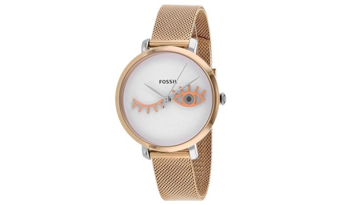 194f396d7 Fossil Women's Jacqueline Wink Eye Watch | Groupon