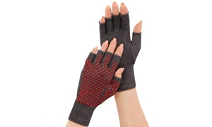 Pain Relief Therapeutic Infrared Open Finger Compression Arthritis Hand Gloves