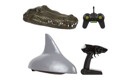 2.4GHz RTR Electric Crocodile Head or Shark Fin RC Speed Boat