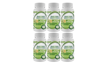 Pure Garcinia Cambogia Extract Maximum 95% HCA - 6 Bottles