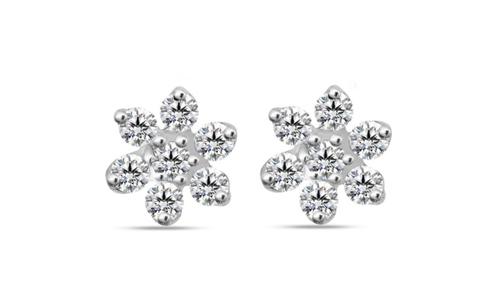 1 4 Cttw Diamond Earring In Sterling Silver E 1297 S