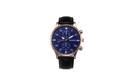 PU Leather Analog Alloy Wrist Watch for Man 120a9782-901b-437a-a24f-40a28cfc8e3b