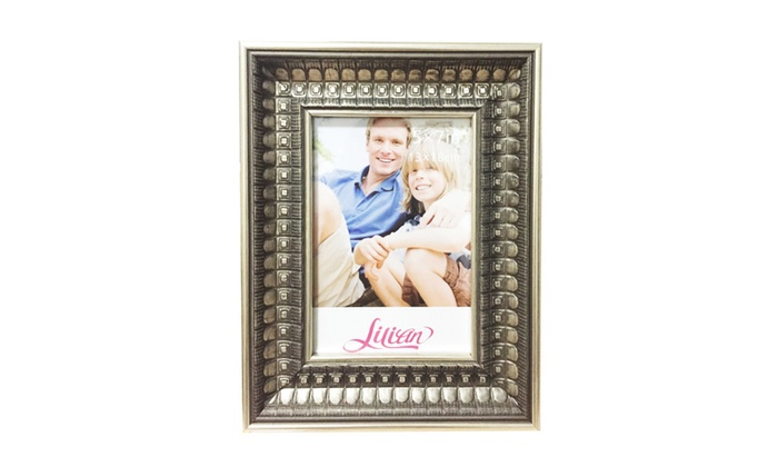 Lilian Antique Gold Display 5x7 8x10 Desk/Wall Photo Frame | Groupon