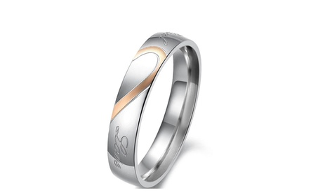 Stainless Steel Romantic Promise Couple Ring 56bf51bc-dbed-4bfb-bc81-0db4daff015a
