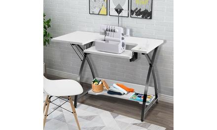 Sewing Craft Table Computer Desk with Adjustable Platform