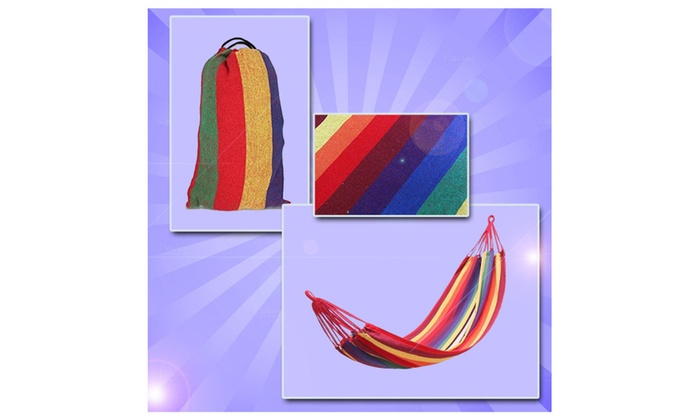Outdoor Colorful Hammock With Carry Bag