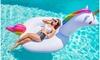 Giant Inflatable Unicorn Pool and Tube Floats