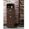Furniture of America Xenia Rustic File Cabinet, Vintage Walnut