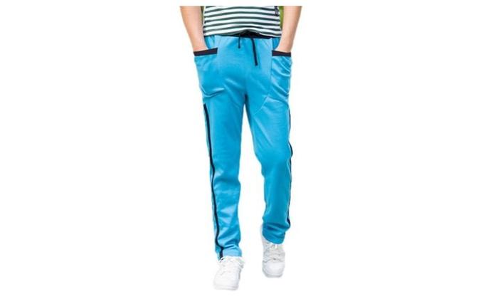 JIE'S Men's Casual Skinny Jogging Sweatpants Drawstring Waist Pants