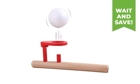Wooden Blow Toy Outdoor Funny Sports Floating Balls Game for Kids