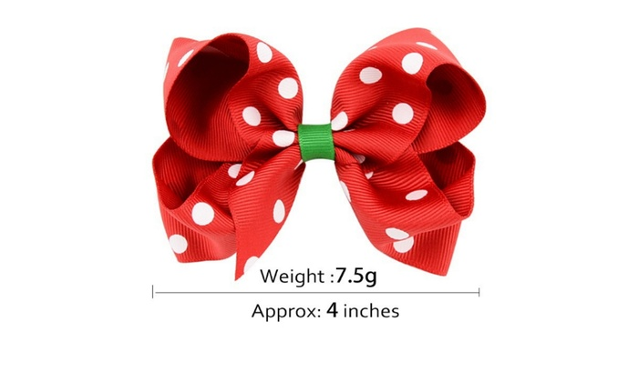 Christmas Hair Bows For Toddlers.Up To 81 Off On Baby Girl Christmas Hair Bow Groupon Goods