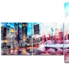Vibrant New York - MultiPanel Cityscape Canvas Art - 63x36 - 5 Piece
