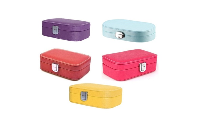 Jewelry Storage Box Organizer Case Rings Earrings Necklaces Mirror