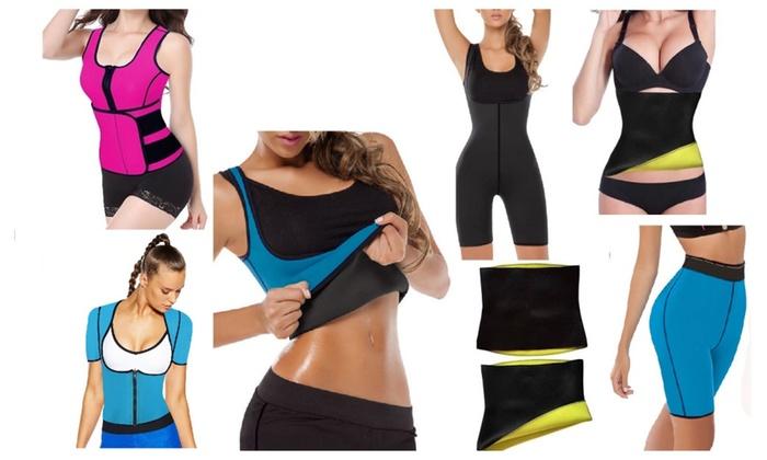 9fb9546085 Neoprene Waist Trainer Belt Body Shaper Slimmer Vest Shirt Shorts ...