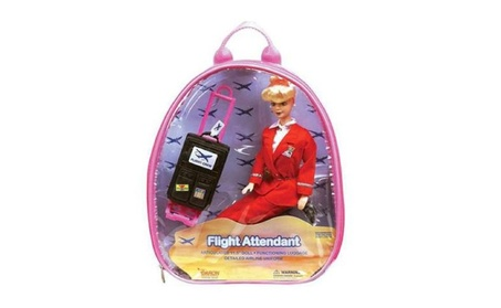 Daron Worldwide Trading Westjet Flight Attendant Doll with Luggage f9c77179-01d4-4b37-82ab-0d7d63d891f6