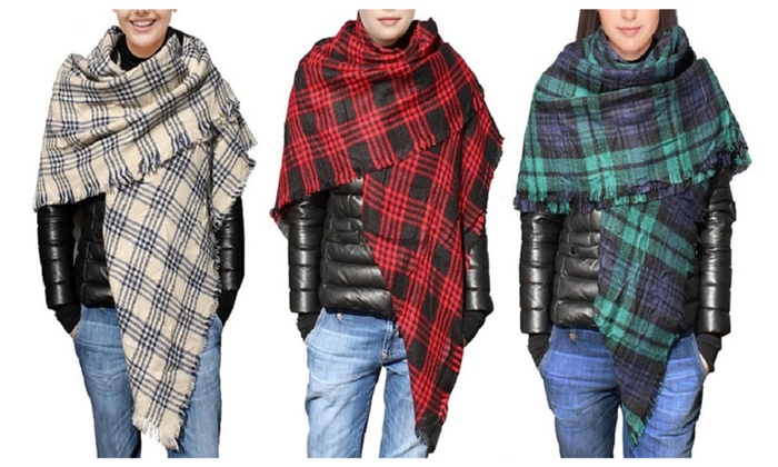Large Square Stylish Fashion Pattern Soft Scarves Scarf