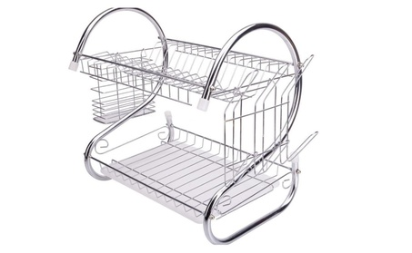 Kitchen Dish Cup Drying Rack Drainer Dryer Tray Cutlery Holder f45679a1-c1fc-4146-a39e-56628c69fc64