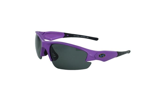 BlueWater Purple Semi Frame with Polarized Grey Lens Eyewear