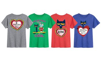 Instant Message: Pete the Cat Valentine's Day Kids T-Shirt