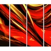 Fire Lines Red Abstract Digital Metal Wall Art