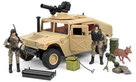 Click N Play Military HUMVEE Jeep Vehicle 20 Piece Play Set ad8d18d2-a401-439b-b54b-5e1f33e70eb3