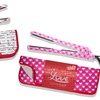 1.25'' Ceramic Flat Iron Hearts Gift Set with Heat-Resistant Pouch
