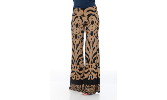 Brown/Black Printed Palazzo Pants