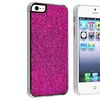 Insten Snap-on Case For Apple iPhone 5 / 5s, Hot Pink Bling Rear