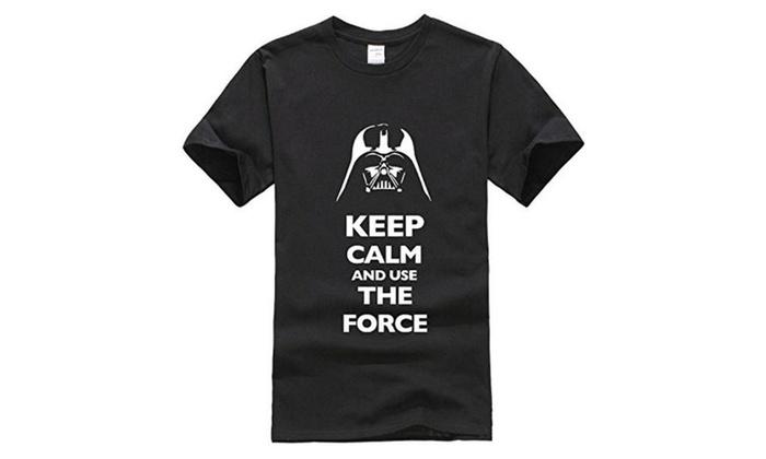Bestong Men's short-sleeved Keep Calm Force T-shirts