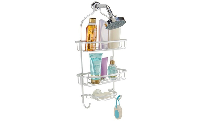 Bath Bliss Flat Wire Shower Caddy In Aluminum | Groupon