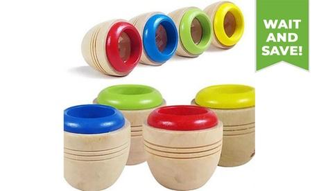 1PC Magic Bee Eye Effect Kaleidoscope Wooden Kids Toy (Random Color)