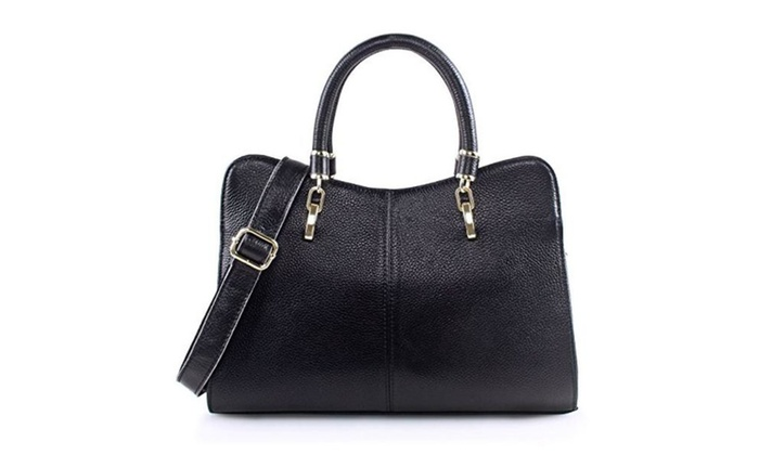 b0325add75 Women Ladies Genuine Leather Handbag Shoulder Bag Top-handle Purse ...