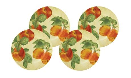 Paula Deen Georgia's Bounty 4-Pack Salad Plates, Print 8bb1f36e-bb2d-47c0-a3ff-5b198e935a99