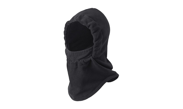 Cold Weather Fleece Hood Face Coverup with Adjustable Face Drawstring