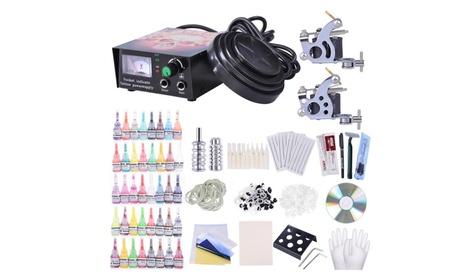 Complete Tattoo Kit 2 Machine 40 Inks Power Supply 10 Wraps Gun Needle 1e8fa1af-3847-4a32-b5a7-dd59344e8fa3