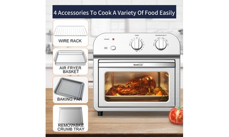 5-in-11 500W 11QT Small Kitchen Appliance, Multi-function Air Fryer Toaster Oven photo