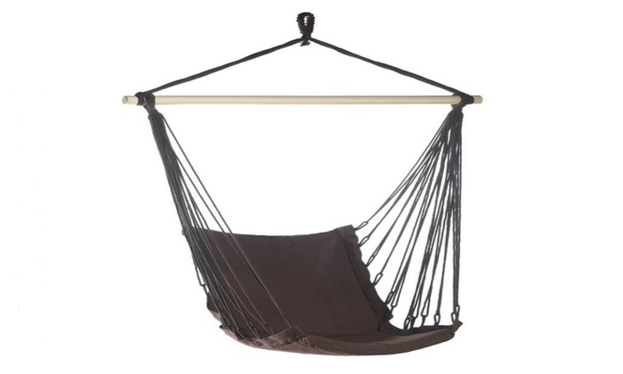 Espresso Cotton Padded Swing Chair Groupon